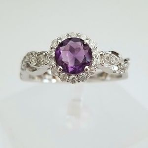 Sterling & Natural Amethyst Ring